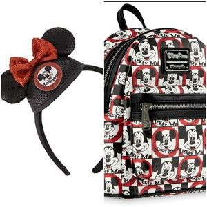 Loungefly Bags - Loungefly Mickey Mouse Club backpack and Ears